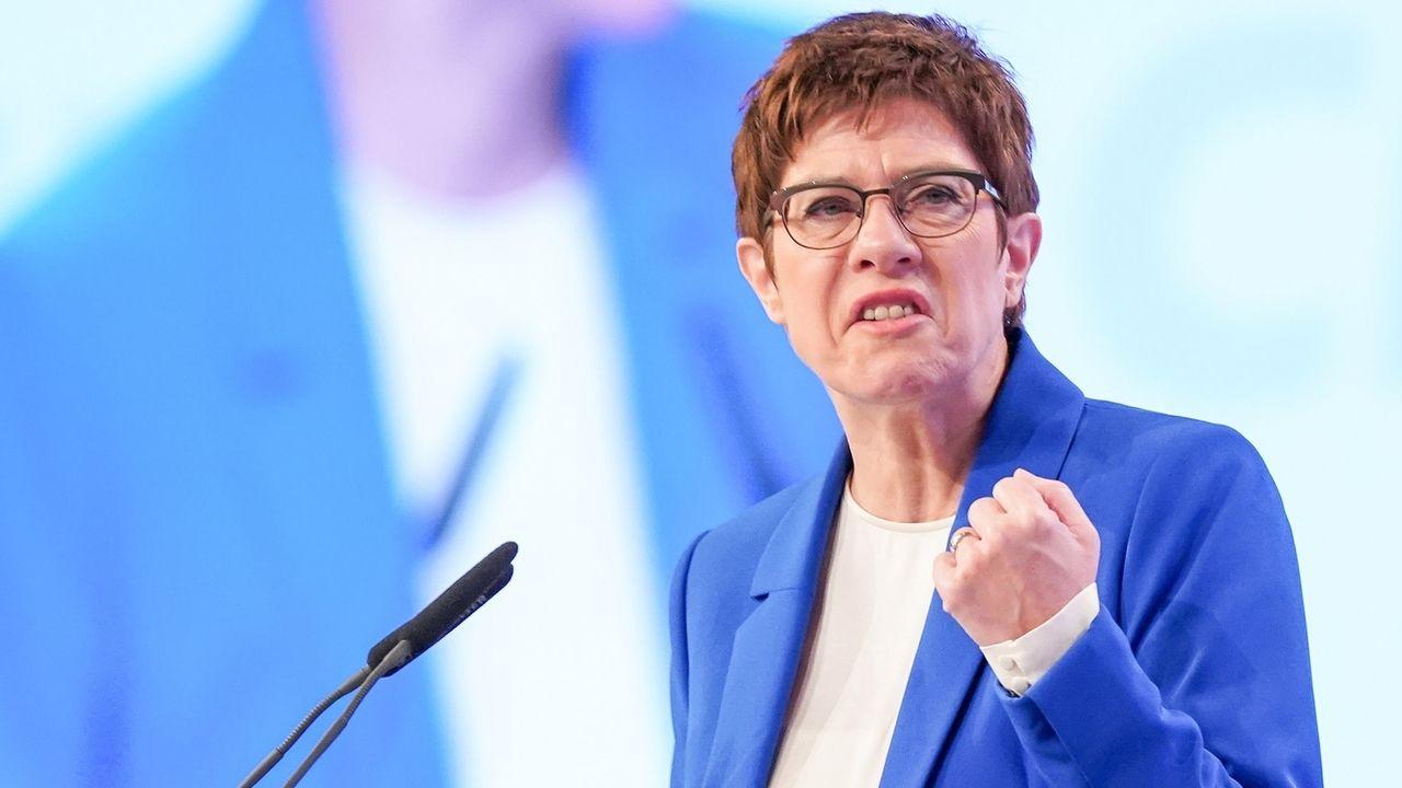 Die CDU-Vorsitzende Annegret Kramp-Karrenbauer auf dem CDU-Bundesparteitag
