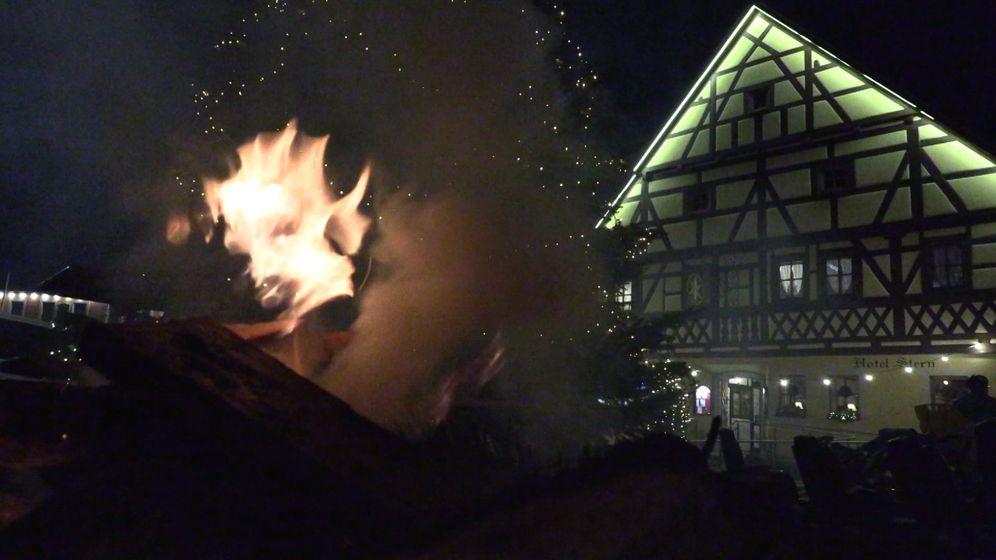 Mahnfeuer in Geiselwind | Bild:Bayerischer Rundfunk 2019