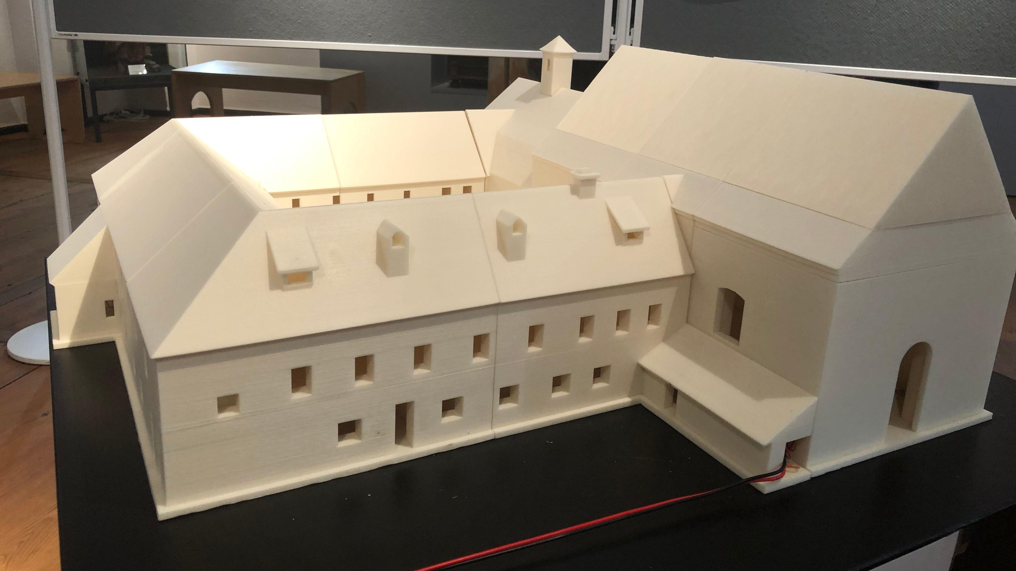 3D-Modell des lange vergessenen Kapuzinerklosters