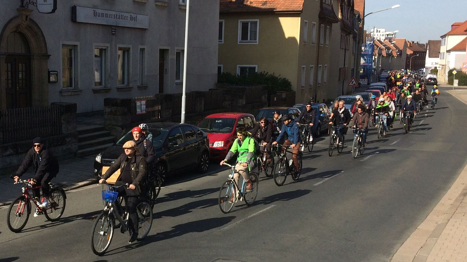 Fahrraddemo für mehr Klimaschutz in Bayreuth
