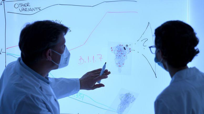 Corona: SARS-COV-2-Sequenzierung | Bild:picture alliance / ROLAND SCHLAGER / APA / picturedesk.com | ROLAND SCHLAGER
