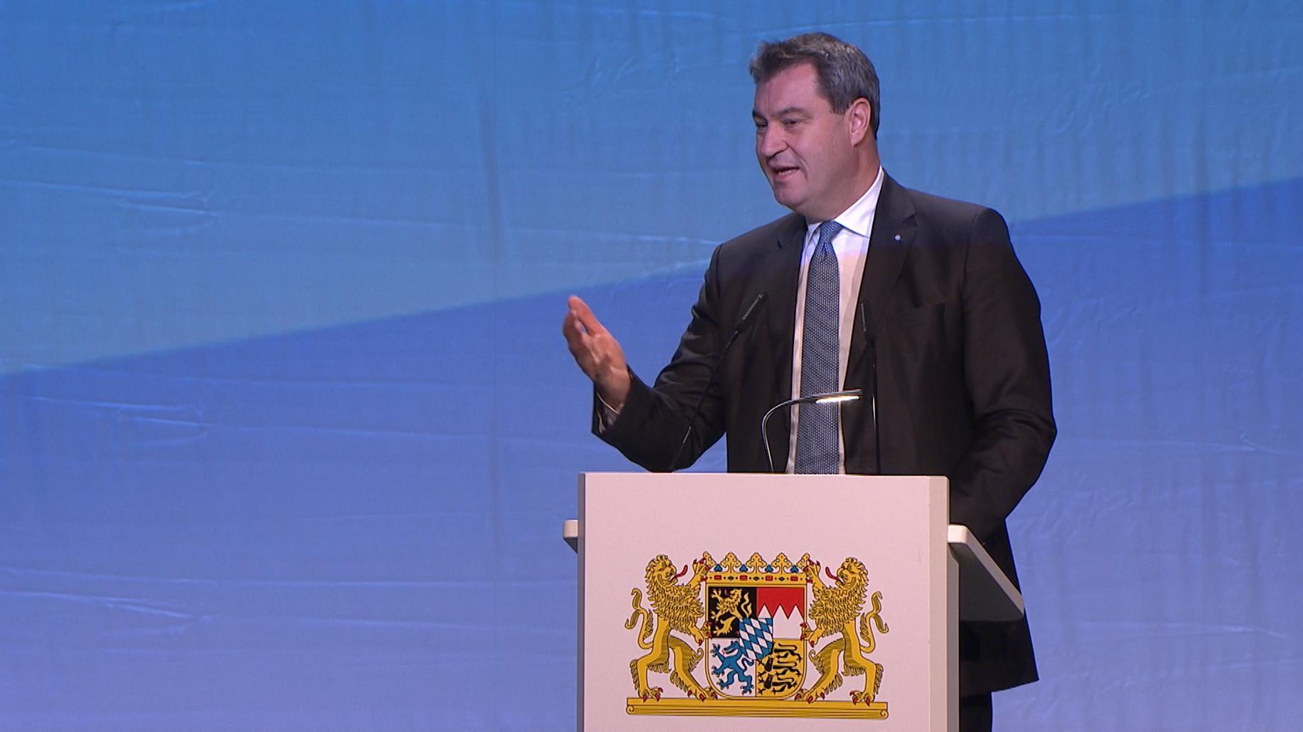 Ministerpräsident Markus Söder beim Staatsakt
