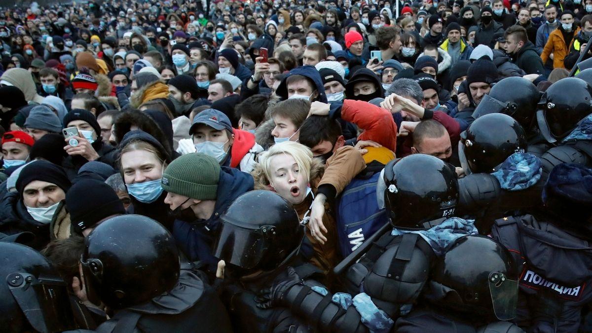 Nawalny-Protest in Sankt Petersburg