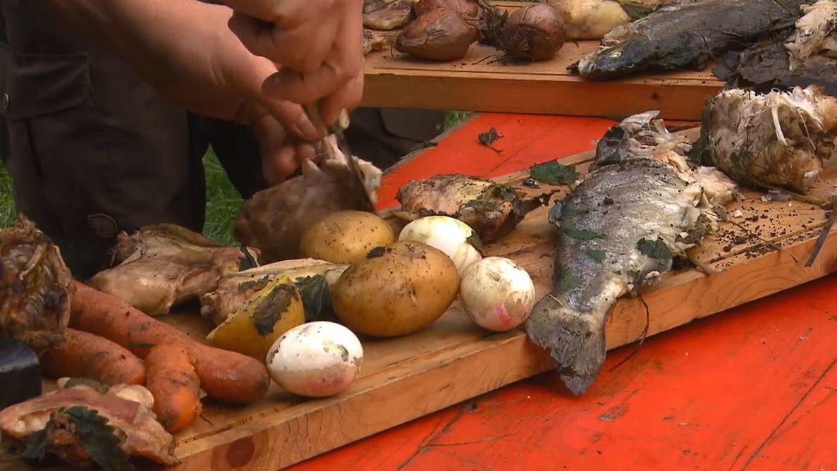 Gemüse aus dem Erdofen