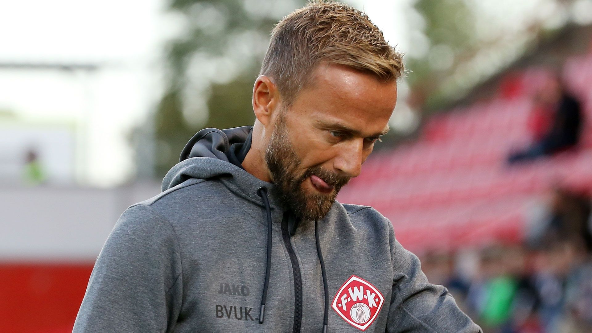 Trainer Michael Schiele von den Würzburger Kickers