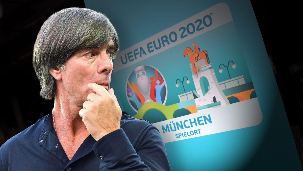 Joachim Löw und Plakat zur Euro 2020
