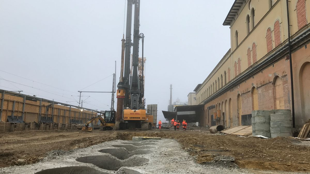 Am Augsburger Hauptbahnhof schreiten die Bauarbeiten voran.