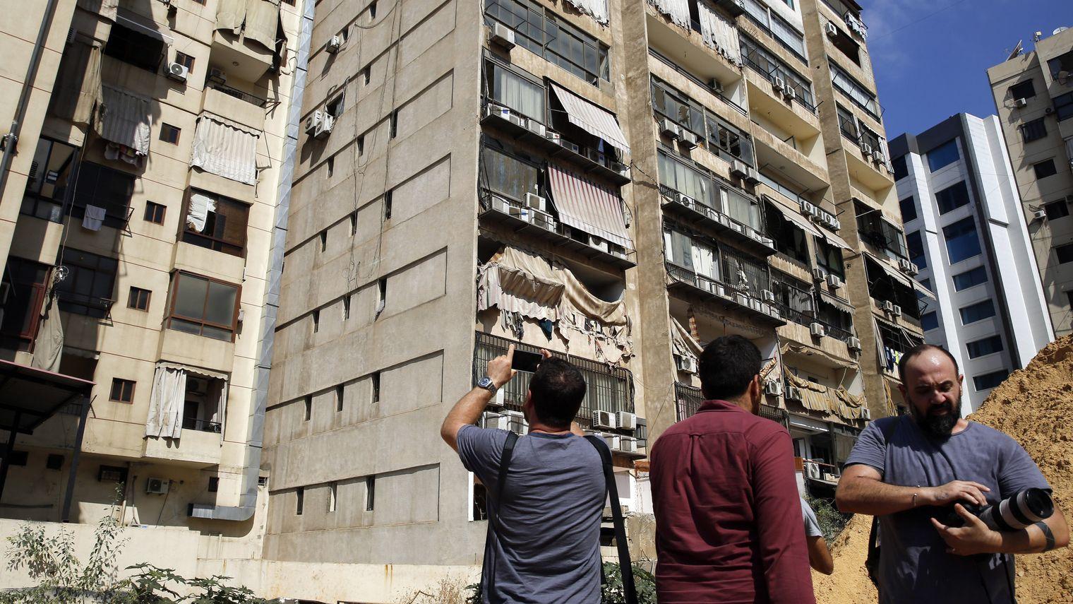 Beschädigtes Hisbollah-Gebäude