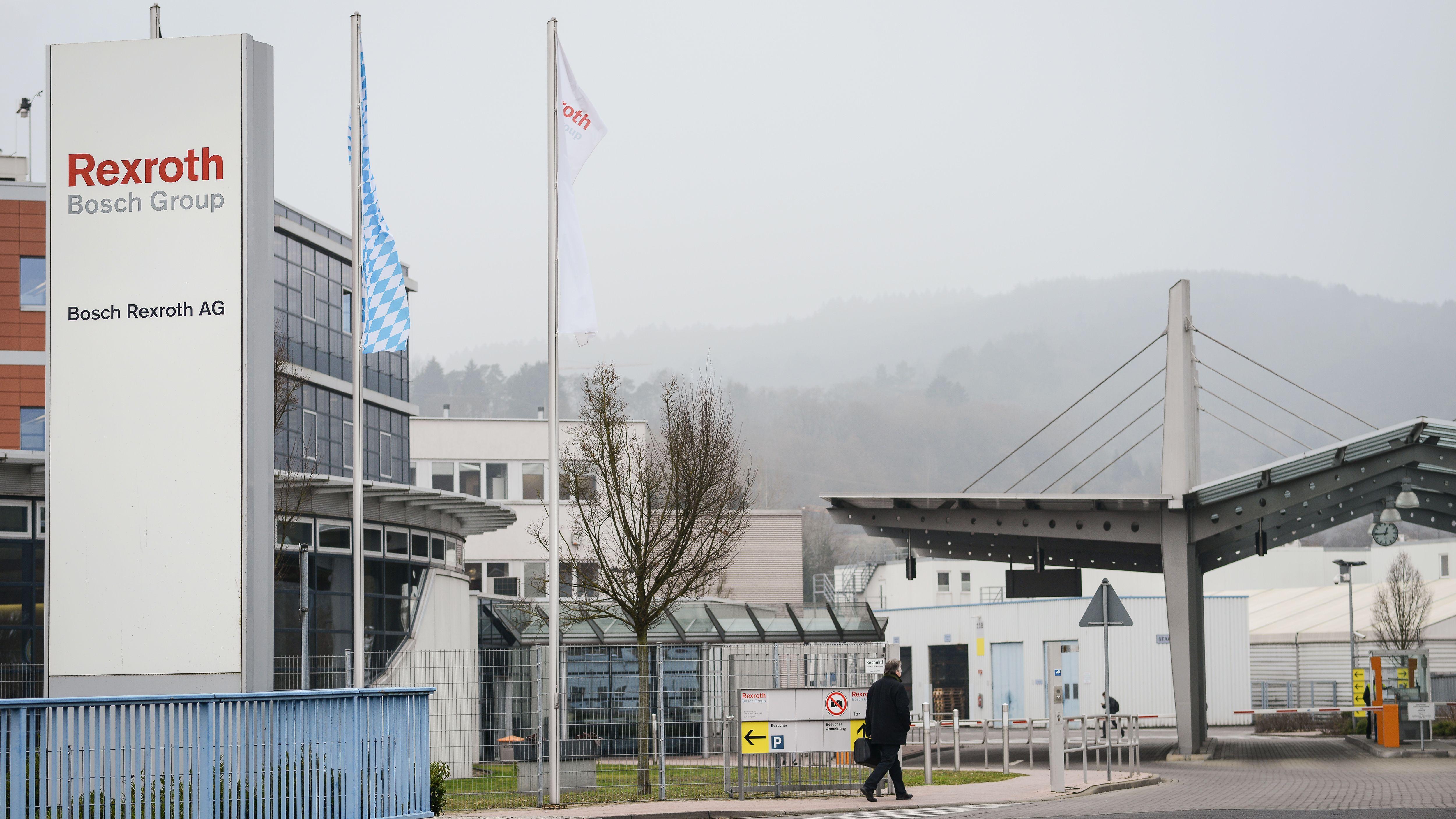 Firmengelände von Bosch Rexroth in Lohr am Main