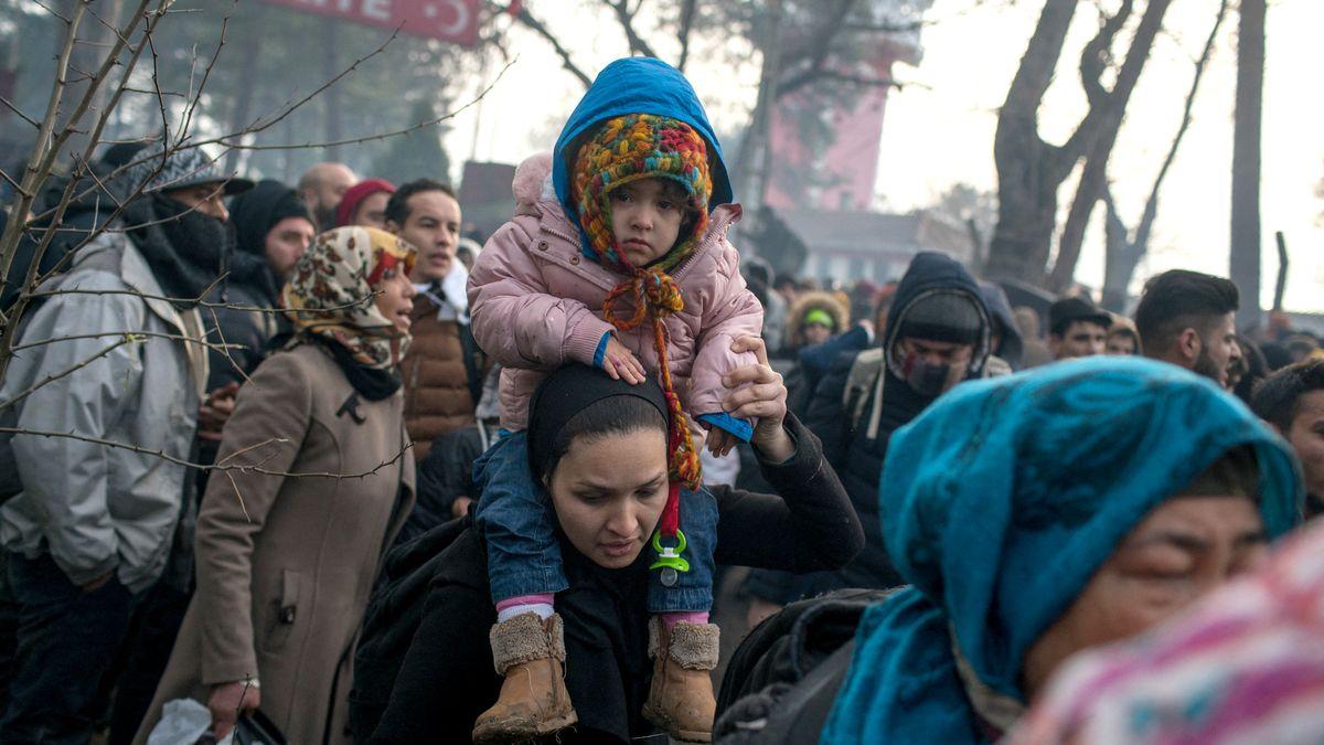Flüchtlinge an der Grenze bei Edirne