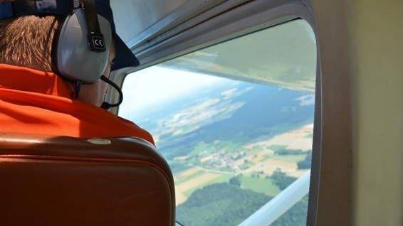 Symbolbild Luftbeobachtung über der Oberpfalz