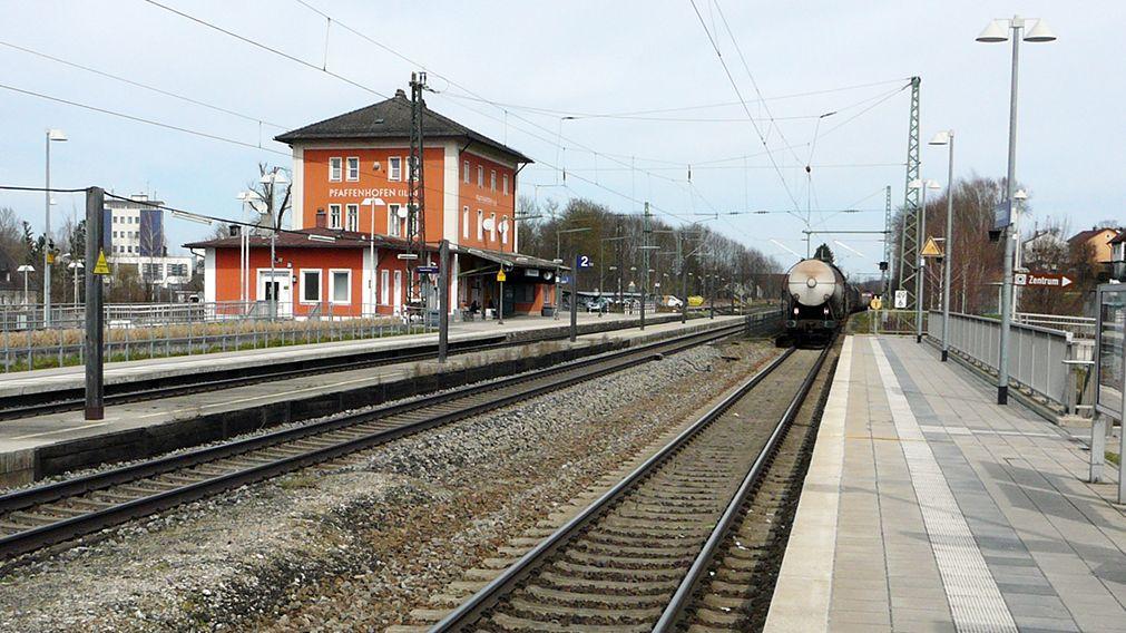 Der Bahnhof von Pfaffenhofen an der Ilm