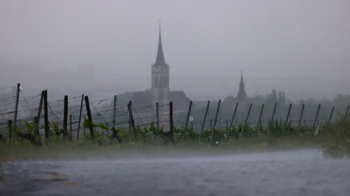 Kirchturm im unterfränkischen Iphofen