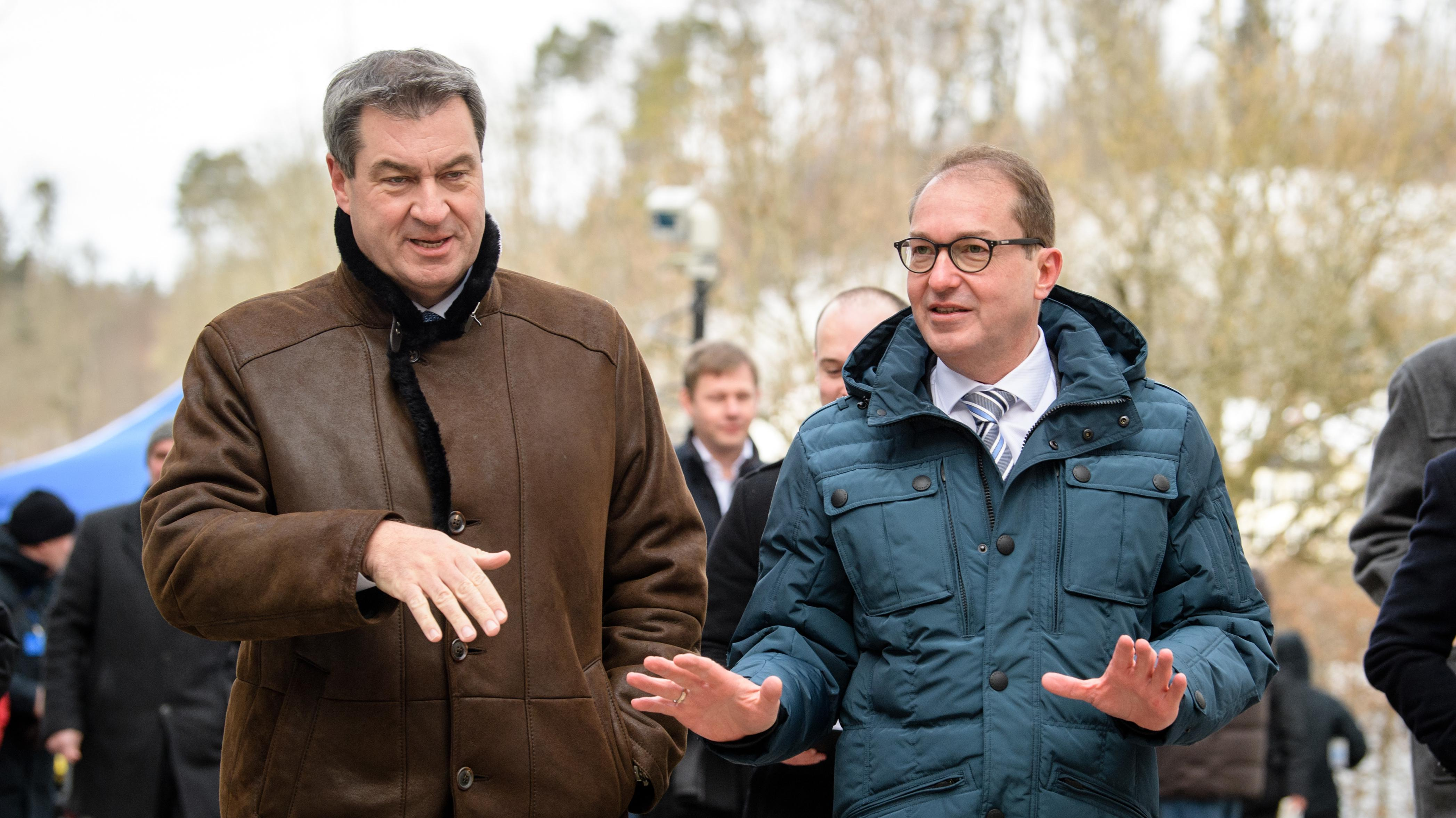 Markus Söder (links), Alexander Dobrindt