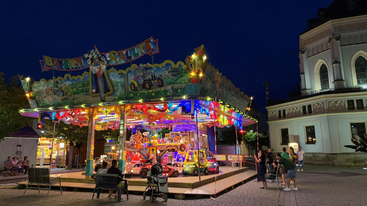 Sommer in der Stadt in Rosenheim.