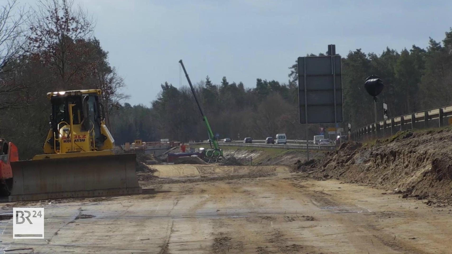 Baustelle bei Schwebheim