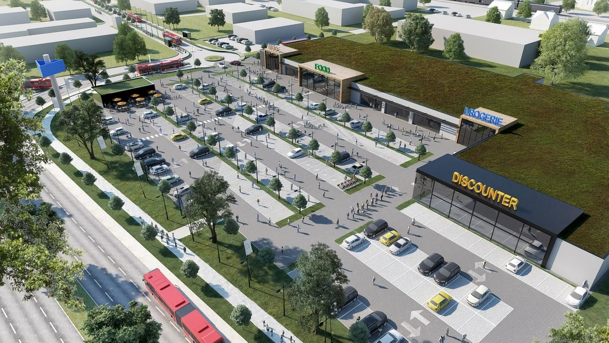Modellentwurf des geplanten Gewerbeparks in Lauingen.