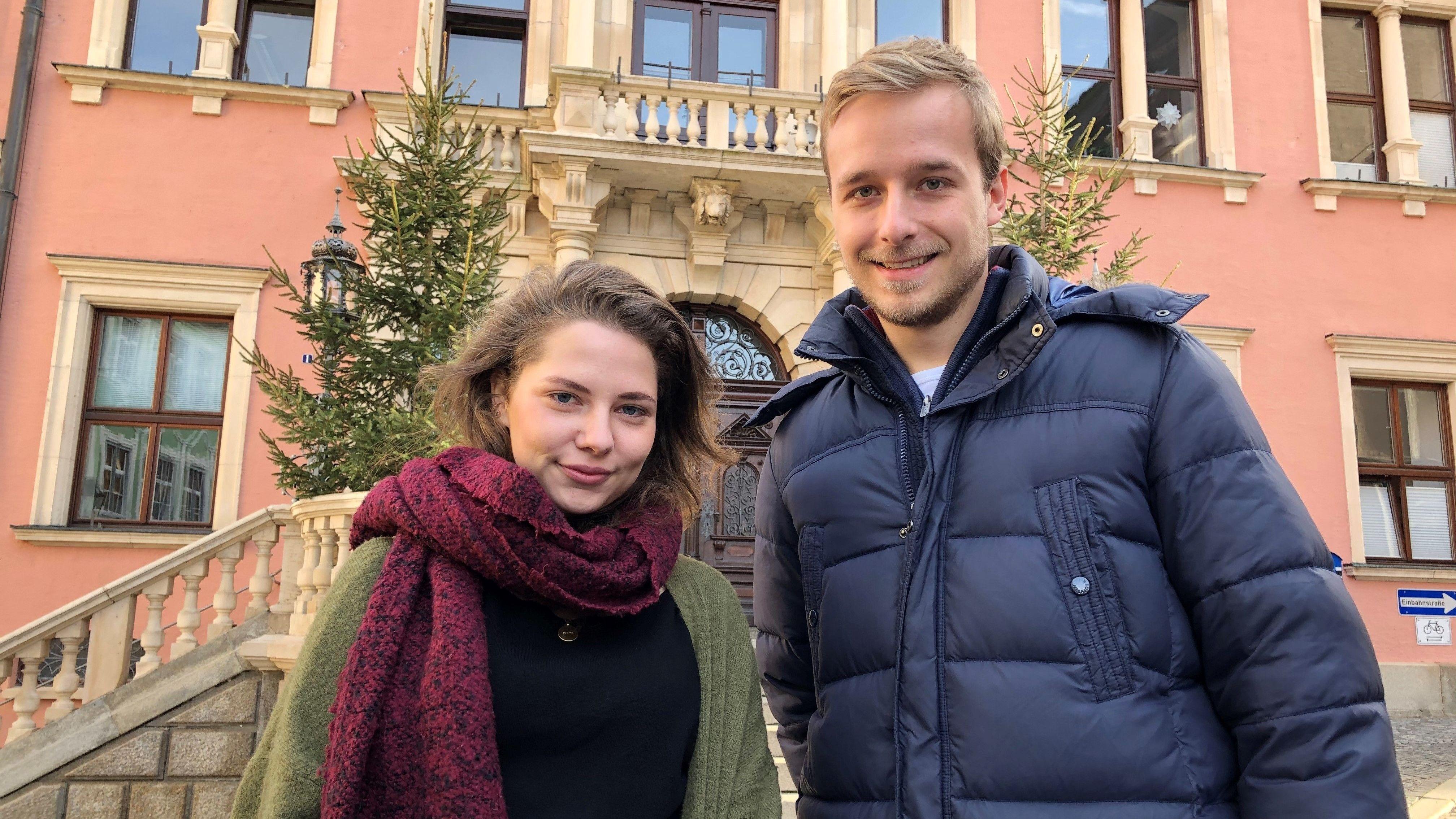 Hannah Rieger und Tobias Würfel von der Generation KF wollen in den Kaufbeurer Stadtrat.