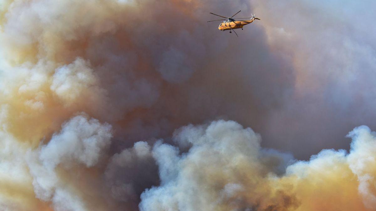 Waldbrand in Gaviota, Kalifornien im Oktober 2021