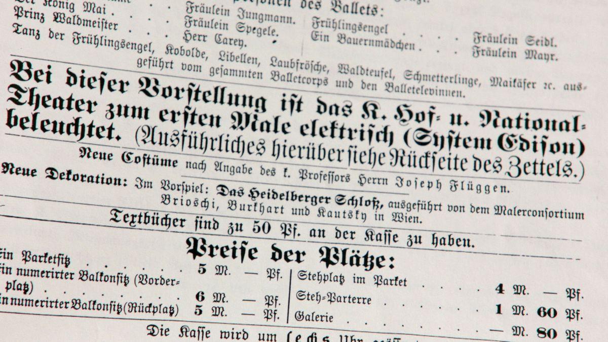 Das erste elektrisch beleuchtete Theater in Deutschland. Ludwig stieß damit eine technologische Revolution an.