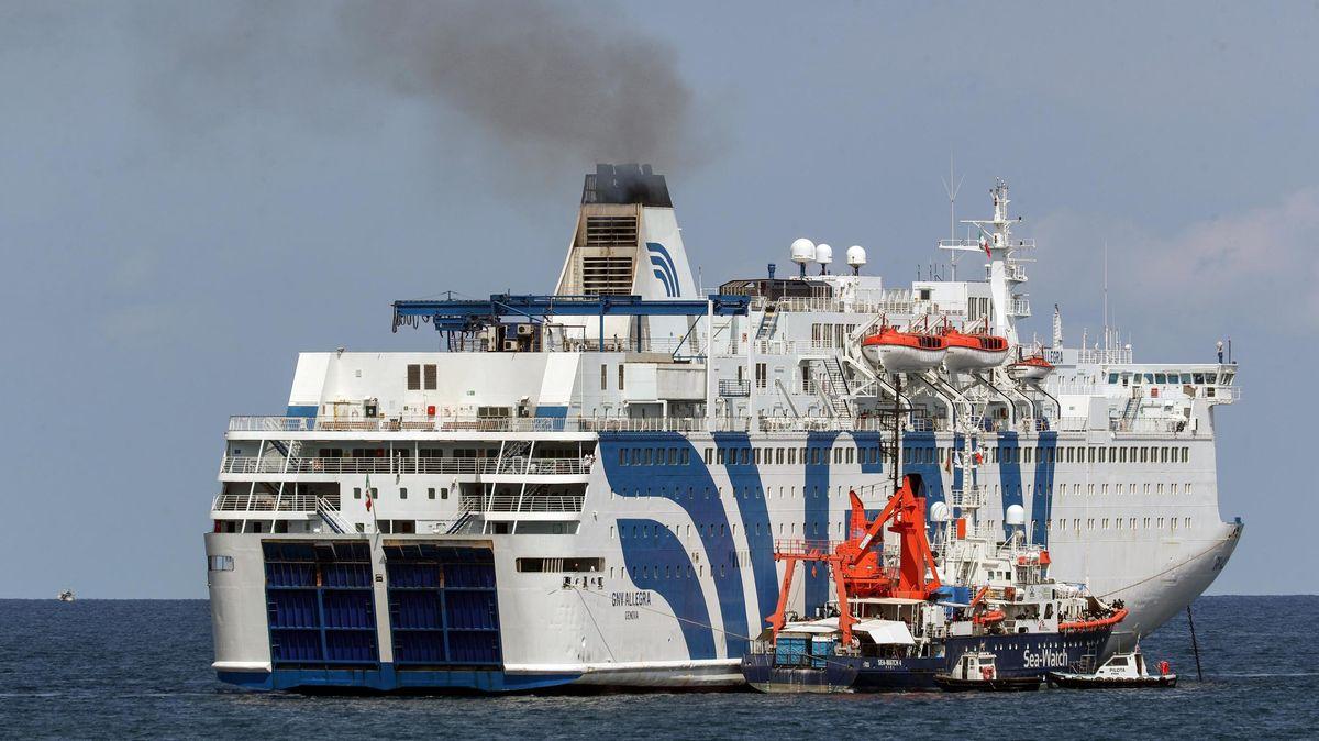 Das Rettungsschiff Sea-Watch 4 am 2.9.2020