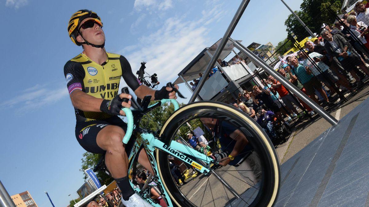 Der Niederländer Dylan Groenewege auf der siebten Tour-Etappe