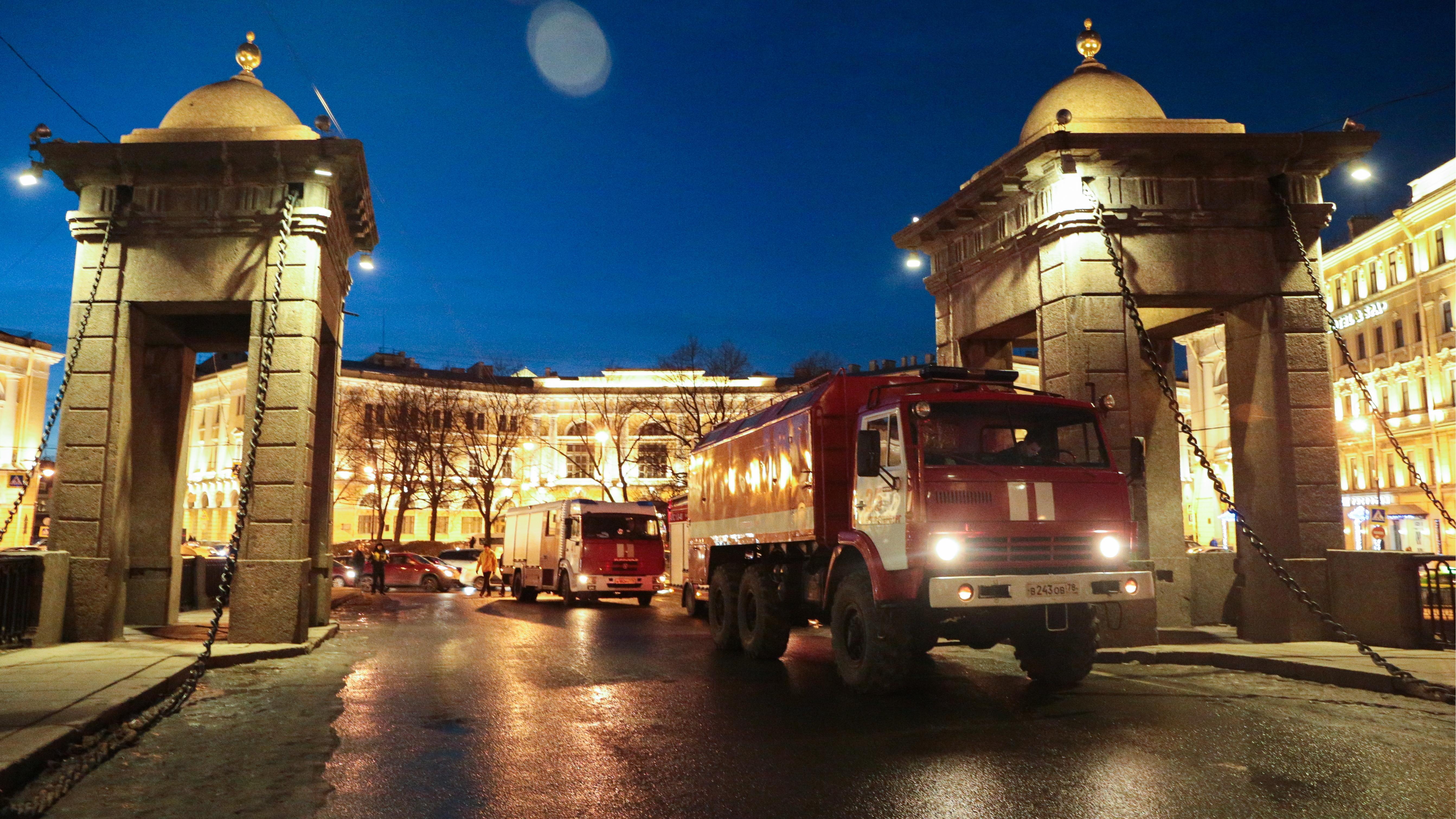 Feuerwehr an der Universität von St. Petersburg