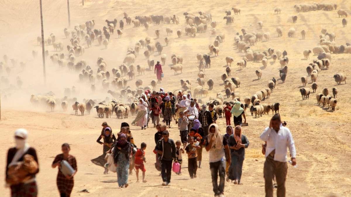 Jesiden auf der Flucht vor dem IS. (Archivbild)