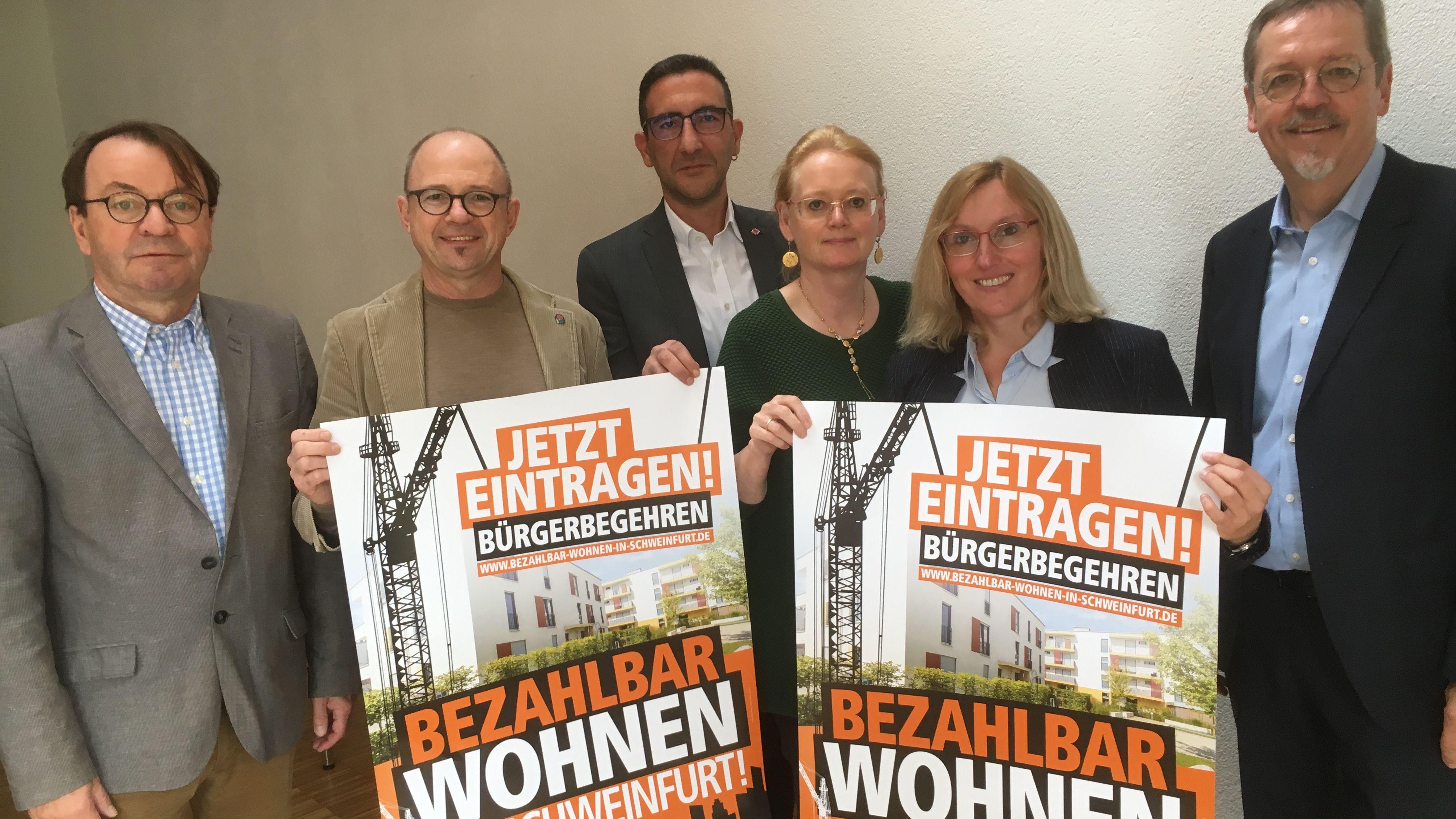 Bürgerbegehren für bezahlbaren Wohnraum in Schweinfurt gestartet
