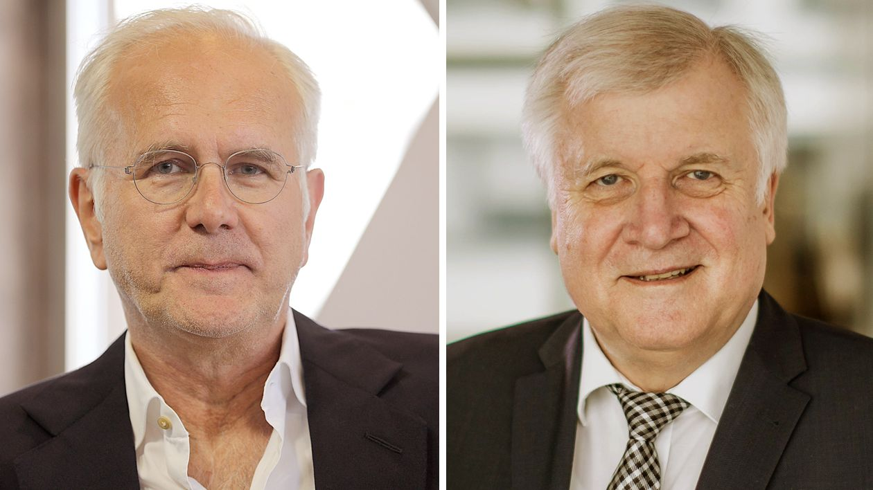Entertainer Haraöd Schmidt und Bundesinnenminister Horst Seehofer sind zu Gast beim BR Sonntags-Stammtisch