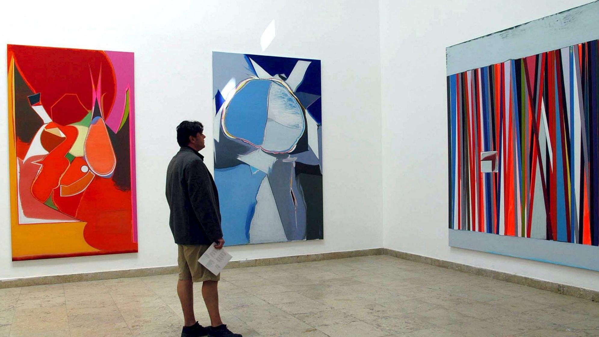 Der deutsche Pavillon 2005: Gemälde von Thomas Scheibitz, der mit Tino Sehgal zusammen den Pavillon bespielte.