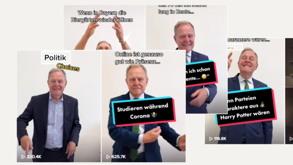 FDP-Politiker Wolfgang Heubisch auf TikTok
