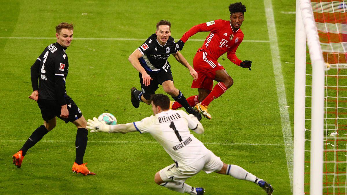 Spielszene FC Bayern München gegen Arminia Bielefeld