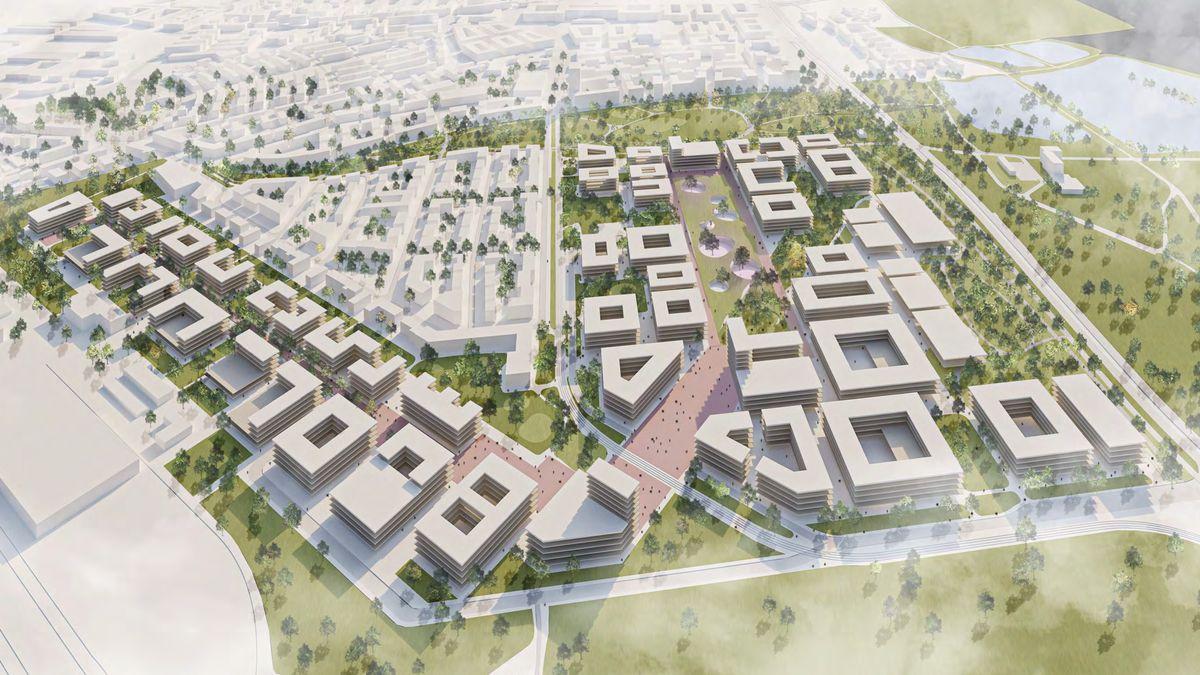 Entwurf des Campus-Geländes der Technischen Universität Nürnberg