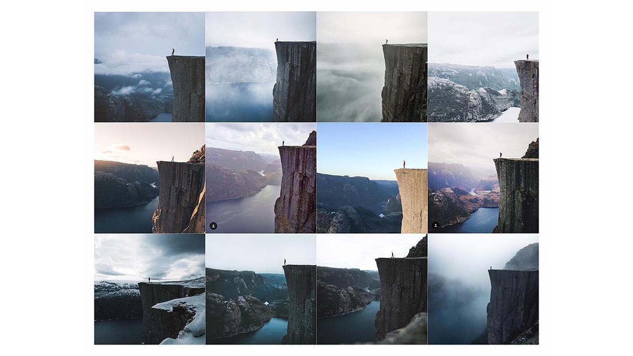 Klippenfotos auf Instagram