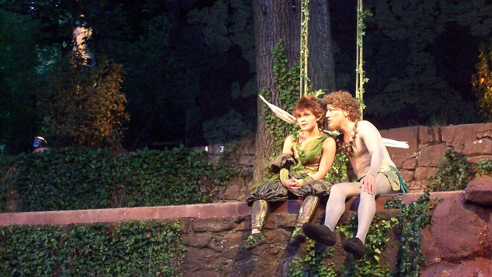 Szene aus einer Aufführung bei den Clingenburg Festspielen