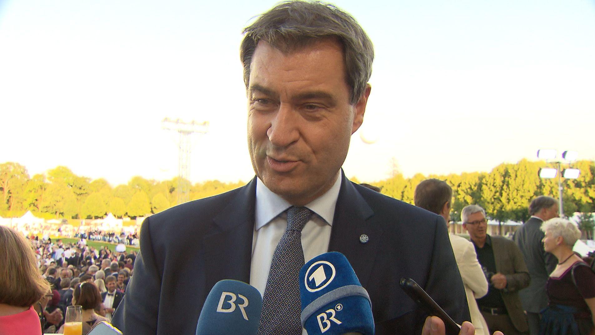 Markus Söder nach der Wahl von Ursula von der Leyen zur EU-Kommissionspräsidentin.