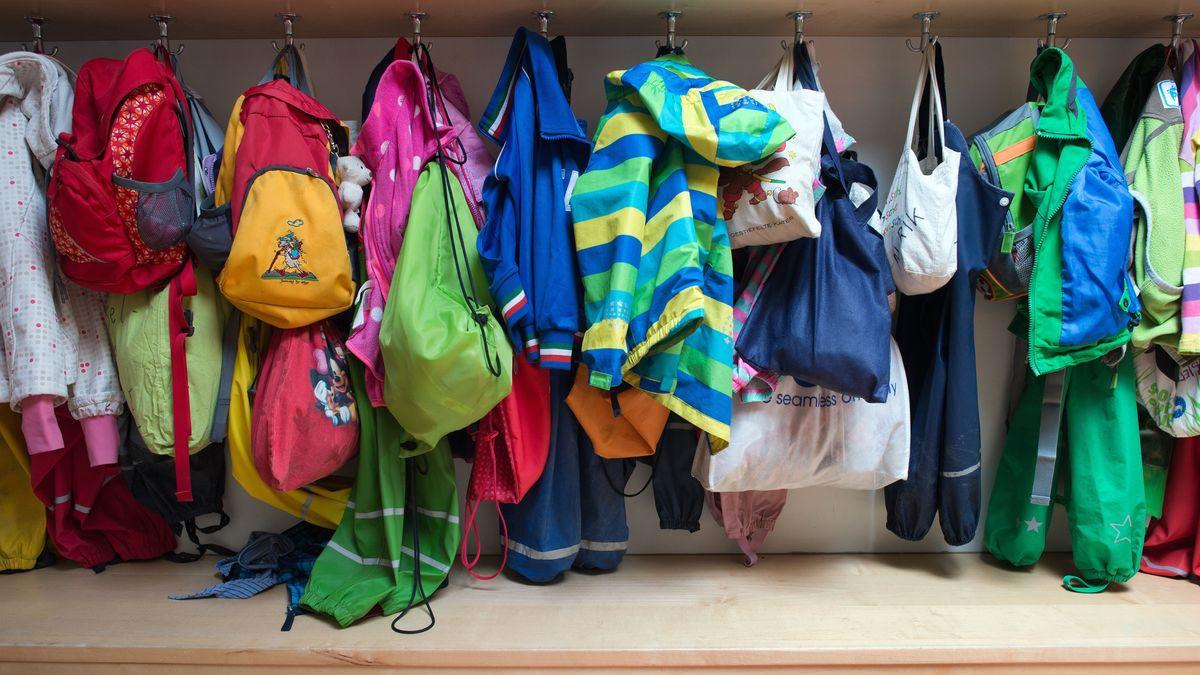 Garderobe einer Kita