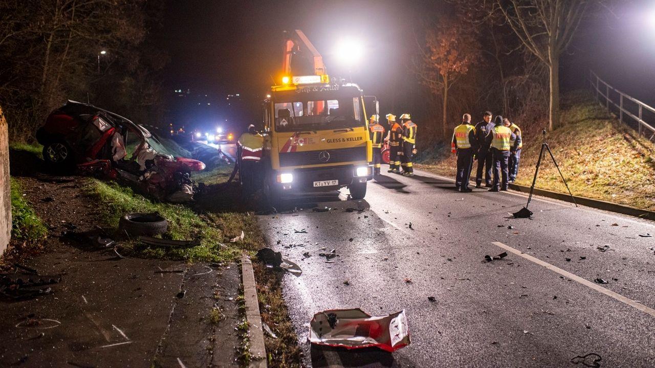 Unfallstelle bei Mainstockheim