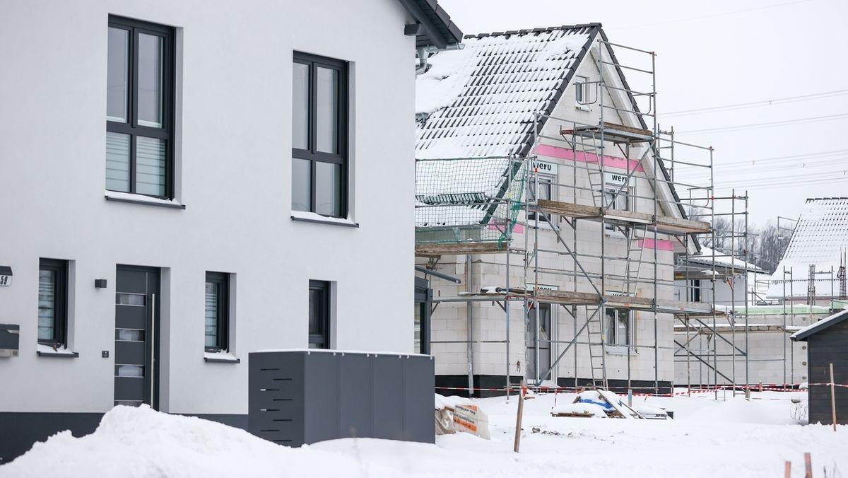 Wohnungen werden gebaut.