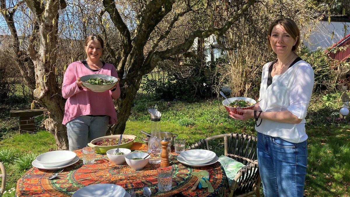 Ayurvedische Ernährungsberaterinnen Uschi Inkofer aus Ebersberg und Bianca Tuschy aus Bruckmühl