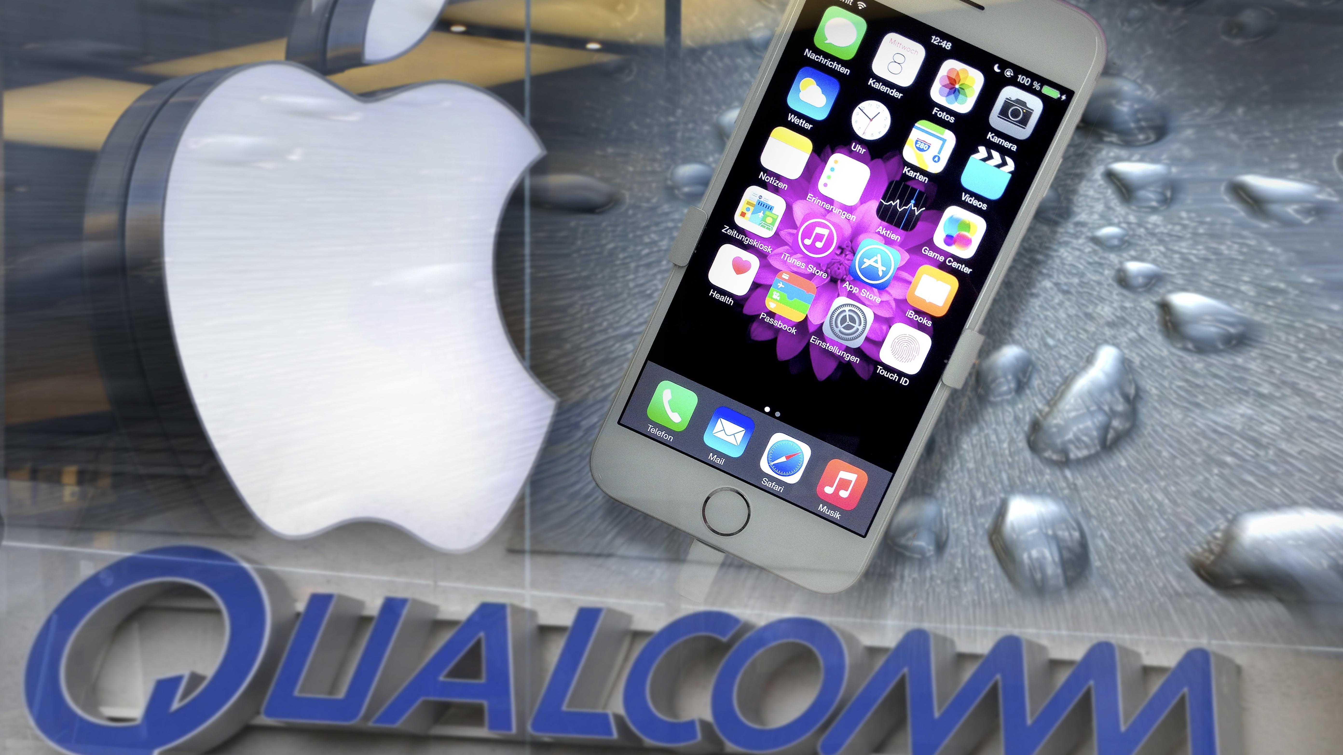 Prozessieren weltweit: Qualcomm und Apple.