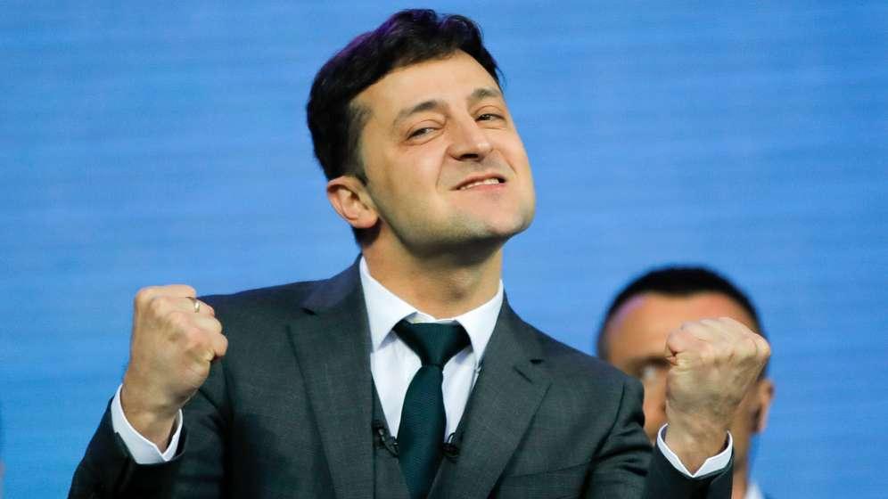 Wolodymyr Selenskyj, Komiker und Präsidentschaftskandidat | Bild:dpa-Bildfunk/Vadim Ghirda