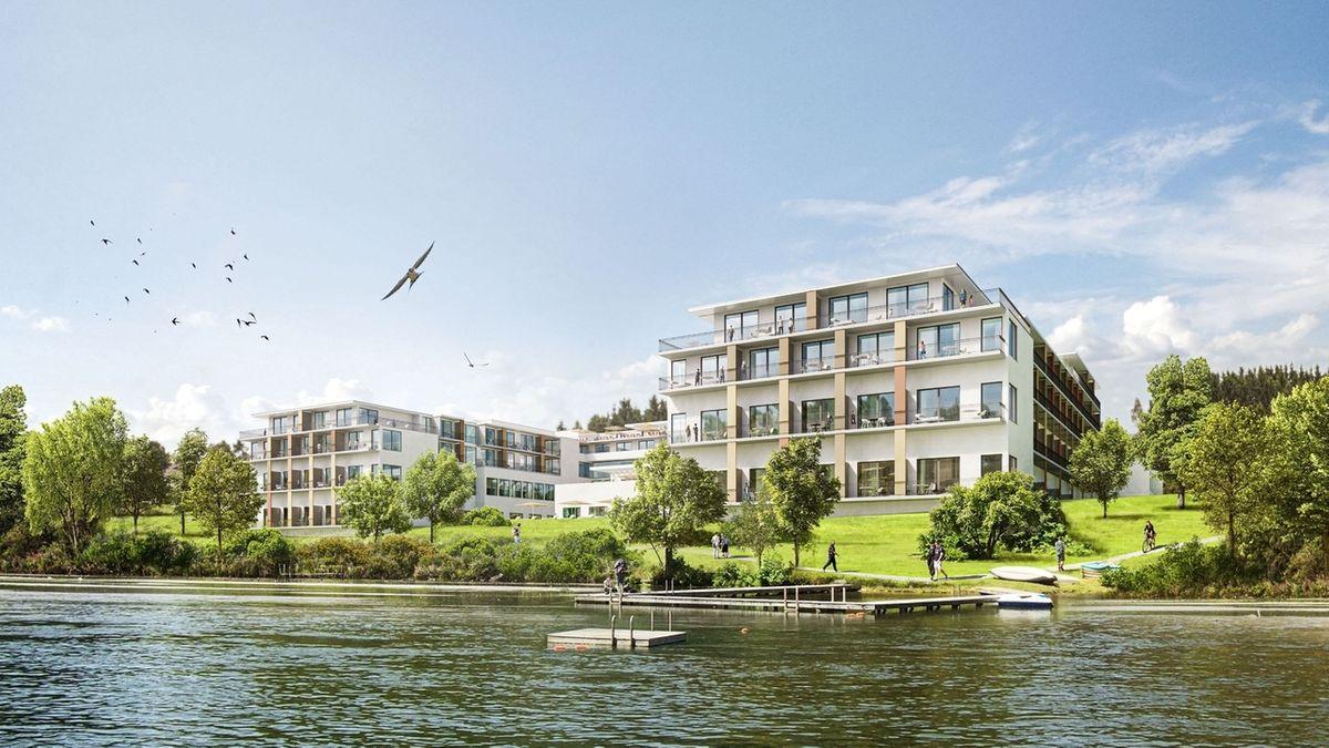 Illustration des geplanten Hotels am Oberen Lechsee