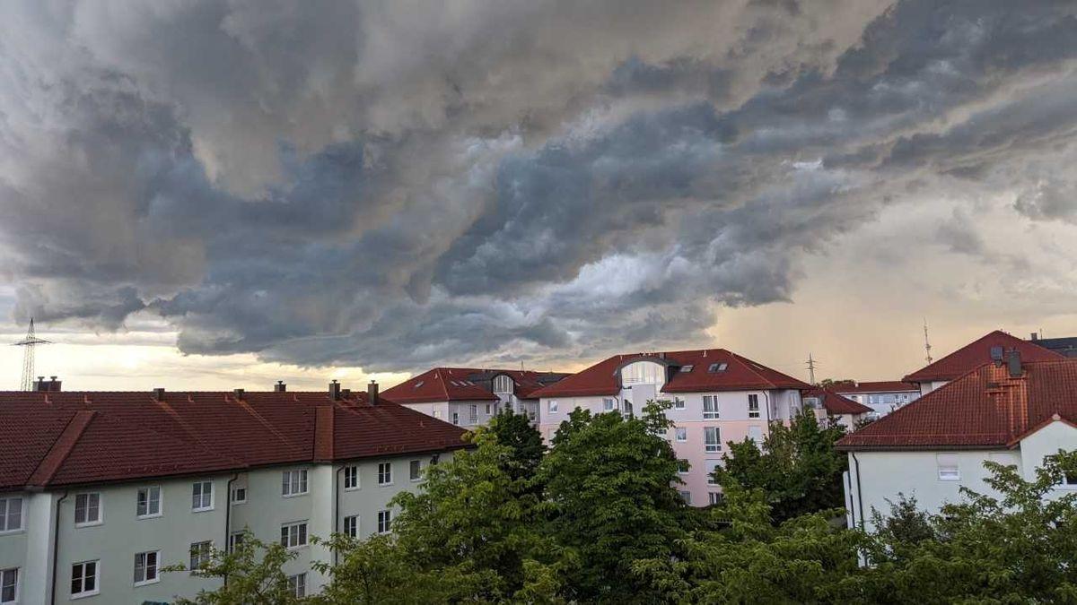 Gewitterhimmel über München