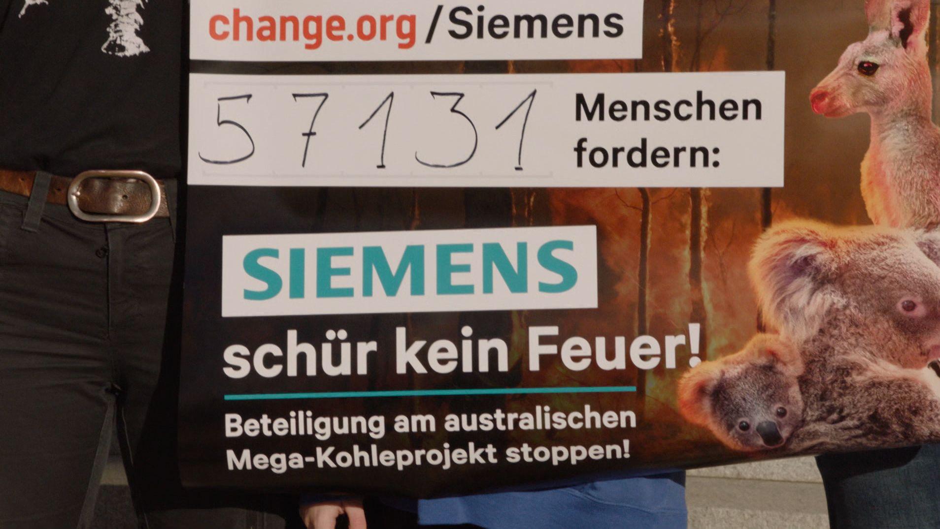 Demo gegen Siemens-Beteiligung