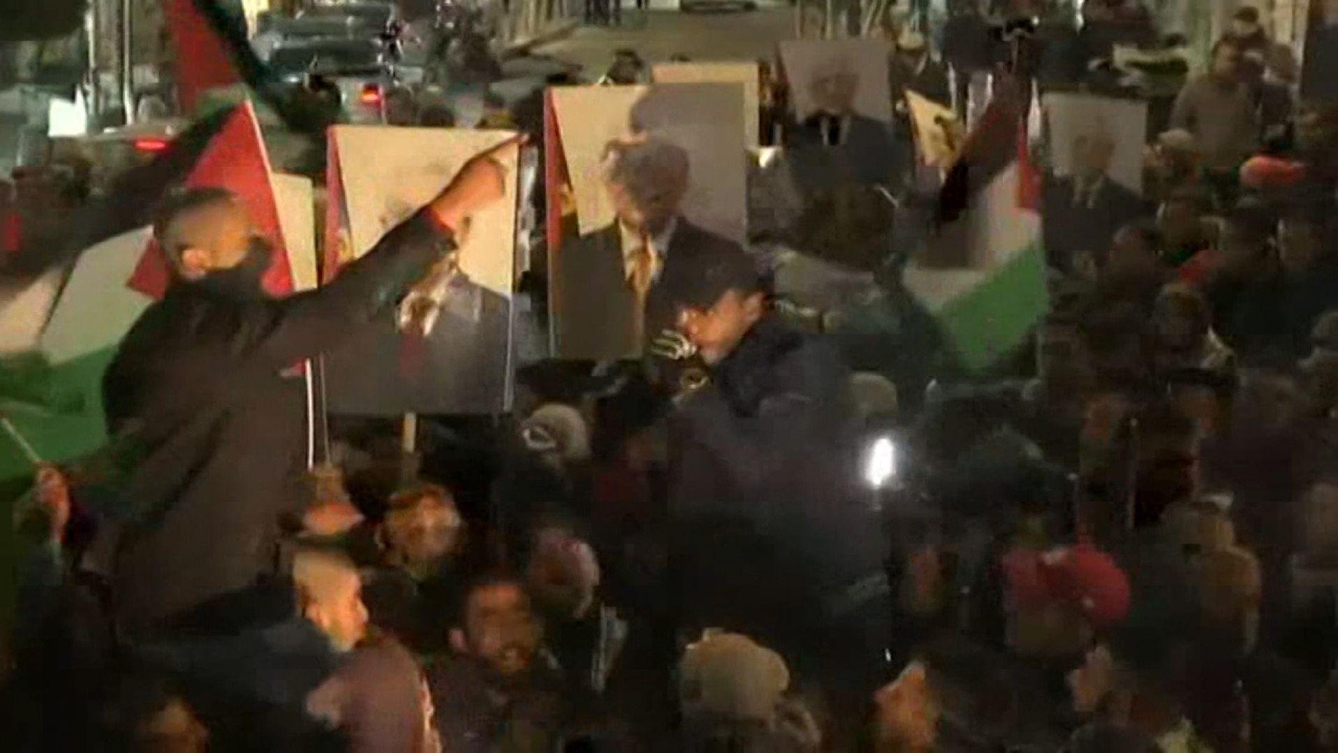 Prtestierende Palästinenser