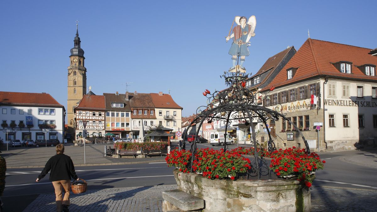 Marktplatz in Bad Königshofen