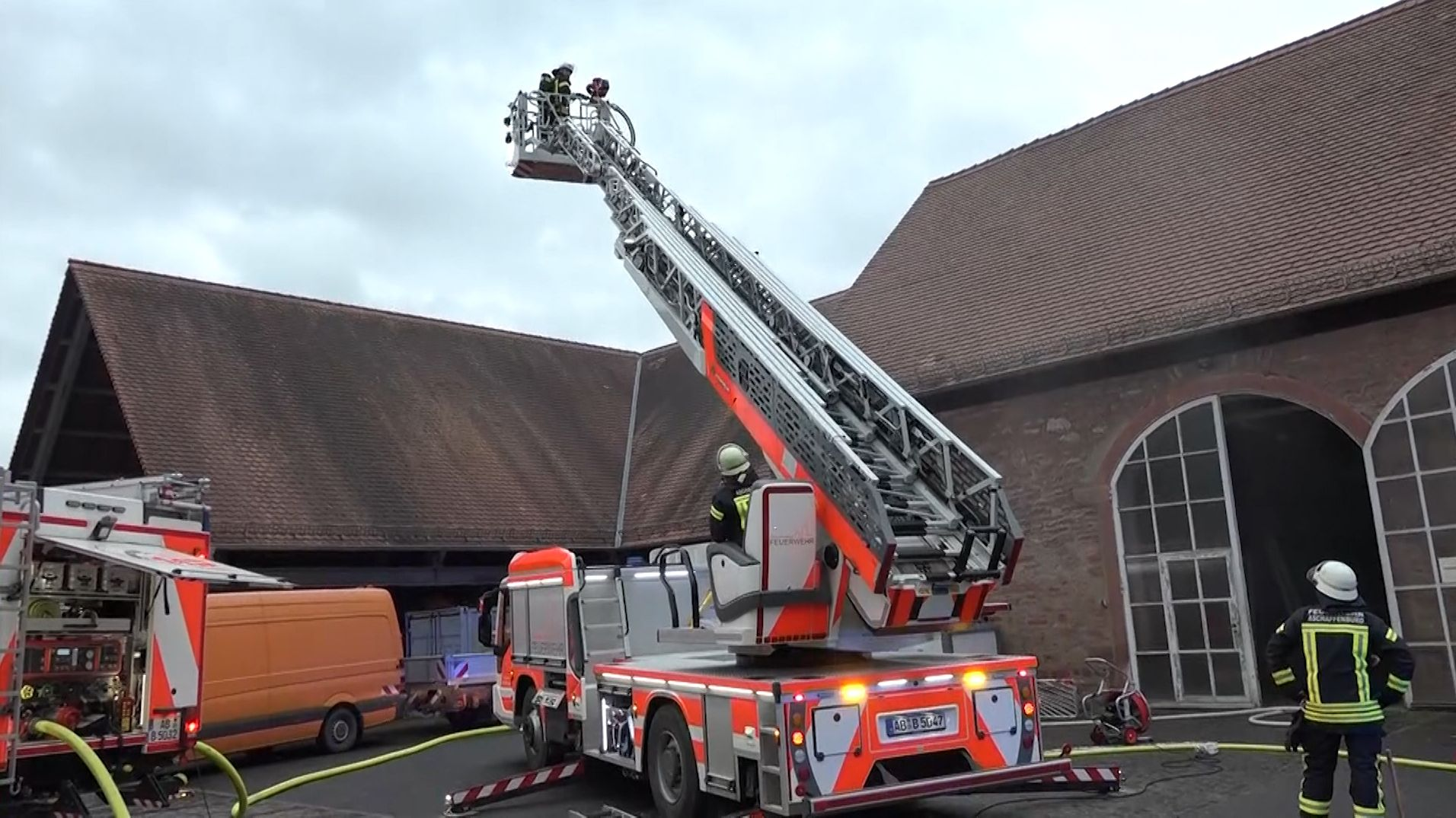 Brand auf dem Gelände der Aschaffenburger Stadtgärtnerei