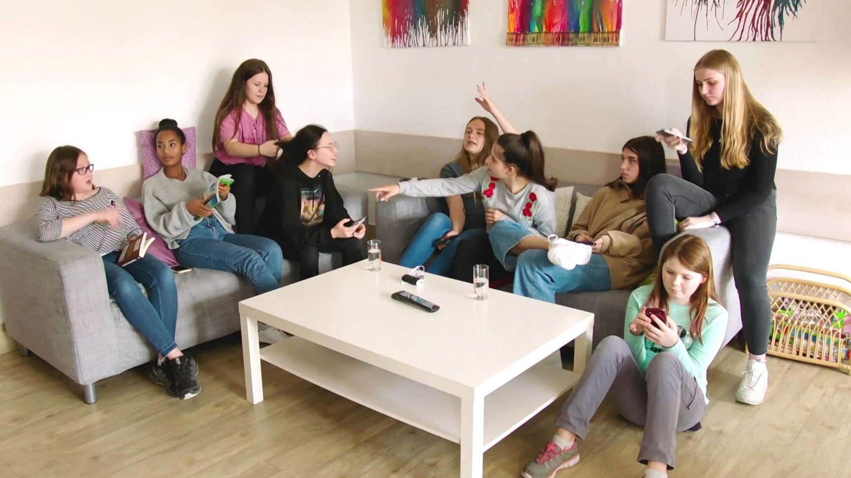 Schülerinnen des Maria-Ward-Internats